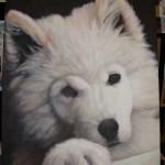 Einen Hund malen mit Acrylfarben Demonstration - Fell malen Anleitung 2