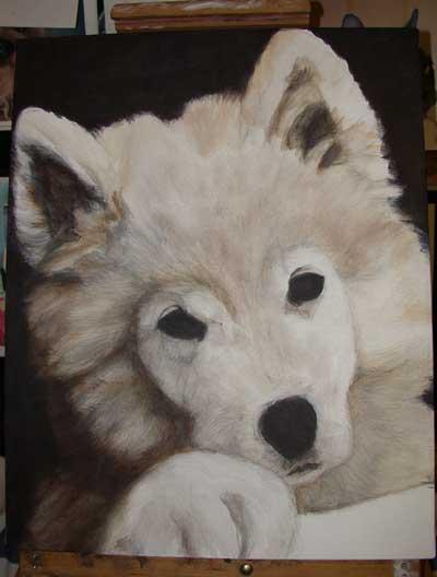 Einen Hund Malen Mit Acrylfarben Anleitung Zum Malenwie Malt Mande
