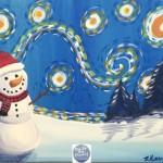 Einen Schneemann im Schnee im Winter mit Acrylfarben malen, Tracie Kiernan
